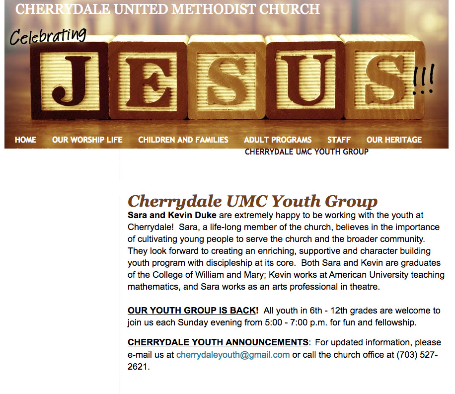Cherrydale Old Youth Page