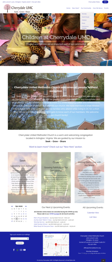 Cherrydale Home Page- New