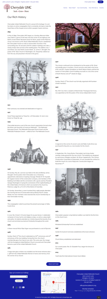 new history cherrydale