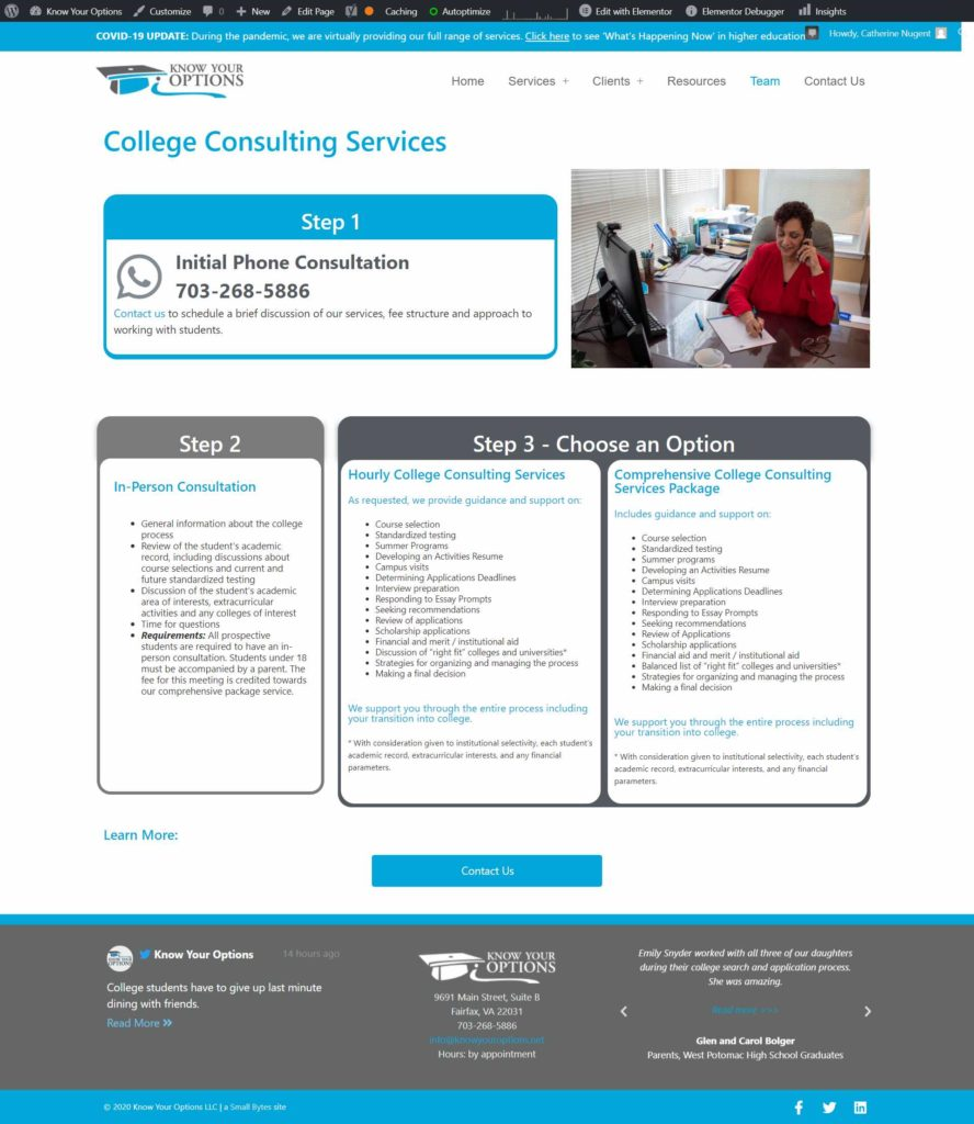 College Consulting KYO new site